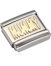 Nomination Charm-MONSIEUR MADAME ET Umbrella - 18–Carat Gold/Stainless Steel - 030162/07 f6cQZa