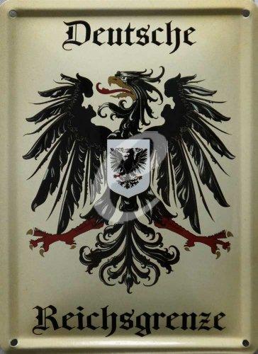 Deutsches Reich - Grenze - Blechschilder Nostalgie 8x11 cm