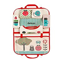 Zhongke Car Accessories Back Seat Organiser Multi-Pocket Storage Bag, Water Bottle, Map, Pens, Office Papers