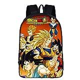 3D Junge Mädchen Schulrucksack Karikatur Dragon Ball Goku Kinder Lässiger Daypack Laptop-Büchertasche zum Kinder/Mädchen/Jungs/Jugendliche,3