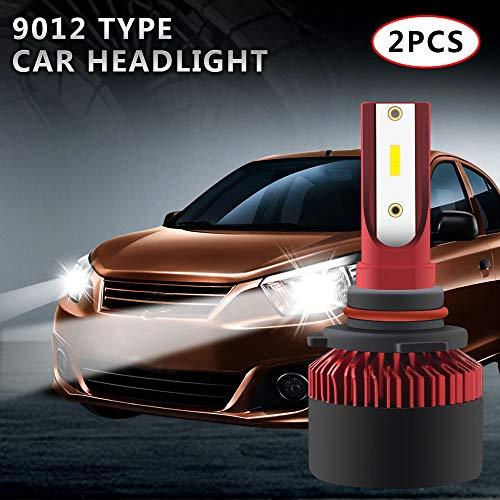 2pz 9012 LED Headlight Bulbs 10000LM Chip ad alta luminosità per moto da motociclista Fendinebbia Conversione anabbagliante/abbagliante Anteriore anteriore o HID 6000K 12-25V (bianco)