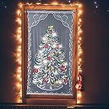HELEVIA Tenda a LED ad incandescenza in Pizzo per Albero di Natale, LED a incandescenza in pizzoLuce per Tenda per la Decorazione della Festa di Natale Luci Natalizie per la casa di Nozze