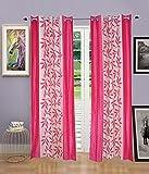 Grafion Pink Floral Polyester Eyelet Doo...