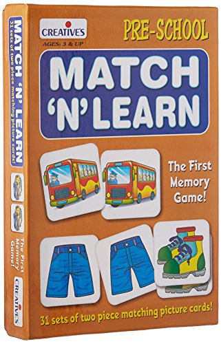 Creative Educational Aids P. Ltd. Match N Learn Card Game (Multi-Color, 62 Pieces)