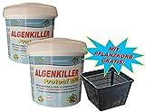 Weitz Algenkiller Protect - 3,0KG - für bis zu 200.00 Liter Teichwasser - POWERHAUS24 Pflanzkorb!