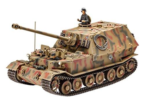 Revell Modellbausatz Panzer 1:35 - Sd.Kfz.184 Tank Hunter ELEFANT im Maßstab 1:35, Level 4, originalgetreue Nachbildung mit vielen Details, 03254 (Modell Panzer Farbe)