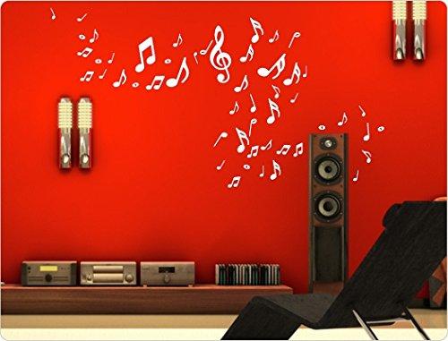 """Preisvergleich Produktbild I-love-Wandtattoo 10243 Wandtattoo Musik """"Noten und Notenschlüssel"""" (51 Teile) Wohnzimmer Wandaufkleber Wandsticker"""