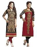 #9: Jevi Prints Women's Cotton Dress Material (Saheli-1204-1225_Free Size_Black)
