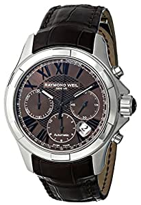 RAYMOND WEIL MEN'S 40MM SYNTHETIC LEATHER BAND AUTOMATIC WATCH 7260-STC-00718