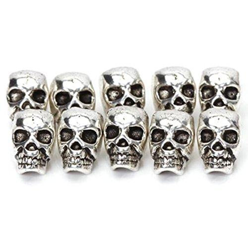 ultnice Tête de Mort perles pour DIY Collier Bracelets Lot de 10
