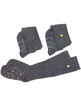 Calcetines escolares largos con botón (pack 3 pares)