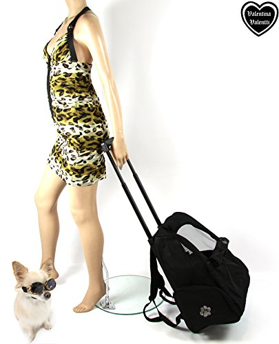 Valentina Valentti Deluxe Pet, Dog Travel Carrier Trolley Backpack with Wheels 2