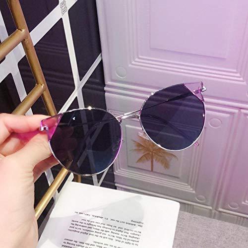 Sonnenbrillen Männer und Frauen Gezeiten Persönlichkeit Mode Metall Sonnenbrillen Kleines Gesicht Dünne Anti-Uv Sonnenbrille-1