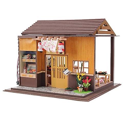 Gazechimp Kit Maison de Poupées Miniature DIY Chambre Lumineuse pour