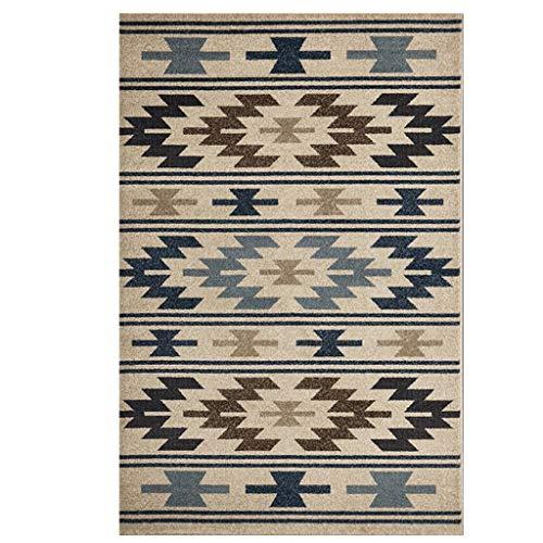 JXLBB Rusg Carpet Kurzhaarige Wohnzimmer Schlafzimmer Küche Foyer Balkon Geometrisches Muster Einfache Nordic Wind Polypropylen Verdickung 9mm (größe : 1.4x2m)