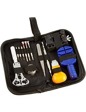 Moobom 13pcs Tragbare Uhr-Reparatur-Werkzeug-Kit (Uhren-Reparatur-Kit)