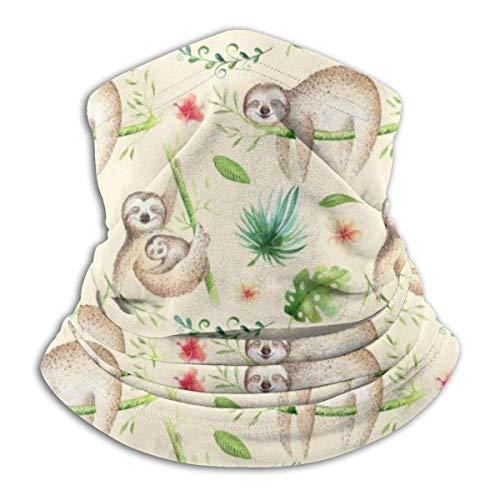 Mu You Ben Baby Tiere Faultier Kindergarten Fleece Halswärmer-Reversible Hals Gamasche Rohr Vielseitigkeit Ohrenwärmer Stirnband & Maske für Männer und Frauen -
