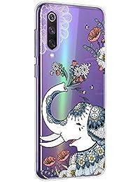 Suhctup Compatible con XiaomiMiMix3 Funda de Transparente Silicona con Dibujos Lindo Animados Animal Diseño Patrón Cárcasa Suave Flexible Ultrafina TPU Antigolpes Protección Caso, Elefante 2