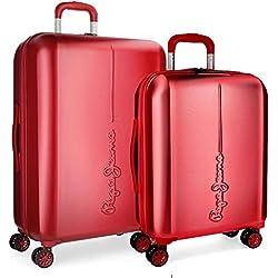 Pepe Jeans Cambridge Juego de maletas, 115 litros, 70 cm, Rojo