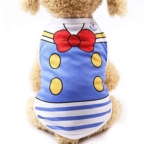 (TYJY Hund Kleidung Sommer Baumwolle Welpen T-Shirt Kleidung Für Kleine Hunde Chihuahua Hemd Weste Kostüm Ropa para Perro)