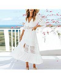 911928c44a Amazon.es  vestidos ibicencos mujer blanco  Ropa