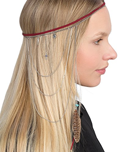 six-festival-red-hair-hairband-head-band-with-feather-silver-chain-and-pendants-cross-circle-point-i