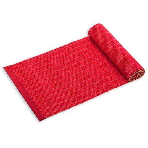 Maxwell & Williams Placesets Tischläufer, Tischdecke, Tischtuch, Tischband, Tisch Bambus, 150 cm x 30 cm, Rot, PM6603