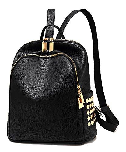 Respeedime , Damen Rucksackhandtasche Mixed Black M schwarz