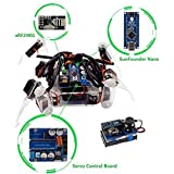 SunFounder Crawling Quadruped Robot DIY Kit for Arduino with Nano Board Remote Control