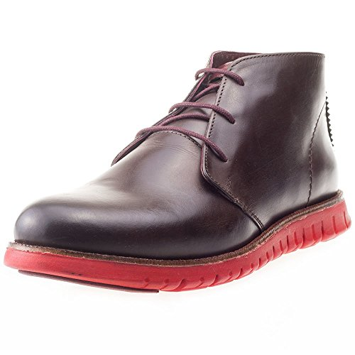 London Brogues Gatz Hommes Ankle Boots Brown Leather/Red Sole