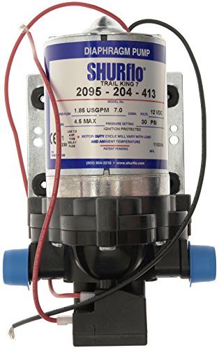 Shurflo Trail King 7 Water Pump - Silver, 12 V/30 PSI Test