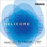 D\'Addario Bowed Jeu de cordes pour violoncelle D\'Addario Helicore, manche 4/4, tension Heavy