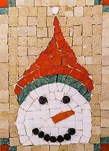 Trois petits points Juego de 3 pequeños Puntos de Mosaico Completo con diseño de muñeco de Nieve Maxi, 6192459600529, Universal