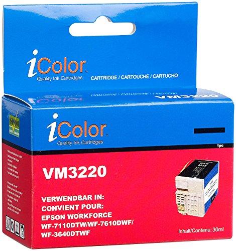 Preisvergleich Produktbild iColor Tintenpatrone für Epson (ersetzt T2711 / 27XL), black XL