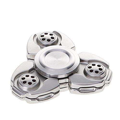 Preisvergleich Produktbild SAVFY Hand Spinner Fidget Spielzeug Finger Spielzeug mit Hybrid-Keramik für Autismus EDC Bremskraftbegrenzer Entlastet und Entspannung für Kinder und Erwachsene, Silber