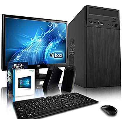 """VIBOX Alpha 4X Gaming PC Ordenador de sobremesa con War Thunder Cupón de juego, Windows 10 OS, 22"""" HD Monitor (3,9GHz AMD A4 Dual-Core Procesador, Radeon 8370D Gráficos Chip, 16GB RAM, 1TB HDD)"""