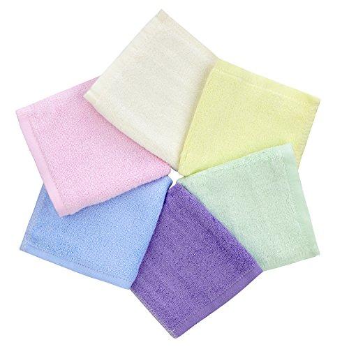 Ko&Pro Baby-Waschlappen 6er Pack | aus 100% Bambus | je 25x25 cm | super weich, hautfreundlich, antibakteriell, extrem saugfähig | waschbar & wiederverwendbar | perfekt für zarte Babyhaut (Bio Waschlappen)