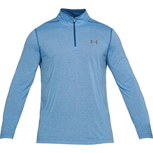Under Armour HeatGear Threadborne 1/4 Zip Trainingsshirt Herren Moroccan Blue/Graphite