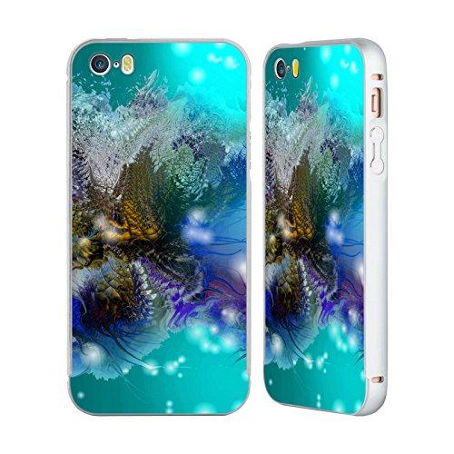 Ufficiale Runa Nuovo Rococo Vivido Argento Cover Contorno con Bumper in Alluminio per Apple iPhone 5 / 5s / SE Barriera Corallina 3