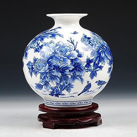 Loopsd antichi Porcellana blu e smalto bianco Peonia Bone China