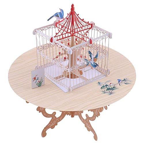 Timmershabi Gruß-Karte Ankündigungs-Vogel Vogelkäfig-3D kreative Gruß-Karten-Hochzeits-Einladungs-Postkarte kann besonders angefertigt werden (Hochzeit Für Karten Vogelkäfig)
