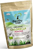 Chlorella Orgánica en Polvo - Alta en clorofila, proteína, hierro y aminoácidos - Perfecta en jugos verdes y smoothies - Chlorella pura orgánica en polvo de TheHealthyTree Company, certificada por el Reino Unido