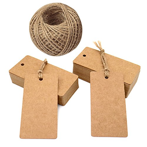 Etiquetas de papel Kraft para bodas