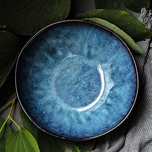 SMC Cuenco Cuenco Creativo de Ramen Cuenco de Ensalada japonés Retro del Estilo del hogar Cuenco de Sopa Grande del Cuenco de cerámica (tamaño : S)