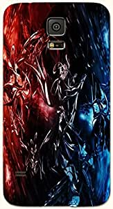 Significant multicolor printed protective REBEL mobile back cover for Samsung Galaxy S5 / SM-G900I D.No.N-T-1975-S5