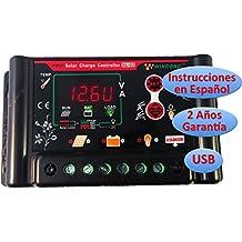 Regulador de Carga Solar Wincong 30A 12v/24v Programable para Baterías Plomo (Pb) / VRLA (AGM) / GEL / Li-Ion / LiFePO4 (LFP) - SL02-30A