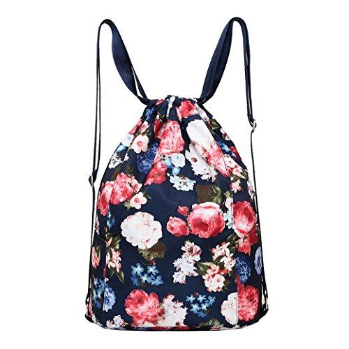Damen Schulrucksack, ACMEDE Leder Rucksack Arbeitsrucksack Top-Modell Schultasche Freizeitrucksack für Damen & Mädchen ( Schwarz ) Dunkle blau