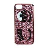 Chiara Ferragni Cover iPhone - Glitter Fuxia - iPhone 6 Plus / 6S Plus - 7 Plus / 7S Plus - Stile Italiano