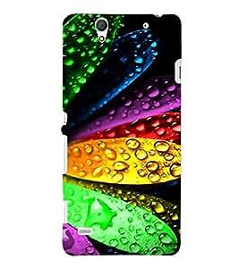 PRINTSHOPPII WATER LEAVES Back Case Cover for Sony Xperia C4 Dual E5333 E5343 E5363::Sony Xperia C4 E5303 E5306 E5353