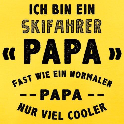Ich bin ein Skifahrer Papa - Herren T-Shirt - 13 Farben Gelb